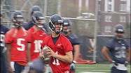 The Virginia Cavaliers are now in their second week of spring practice in Charlottesville where strong armed quarterback Greyson Lambert has already made an impression.