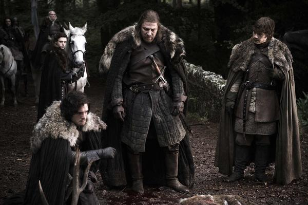 Season 1 ended with the show killing off its protagonist, Ned Stark (Sean Bean, pictured above, center). Any series that's ballsy enough to behead its main character before its first season is over is worth watching. Just for sheer gutsiness.