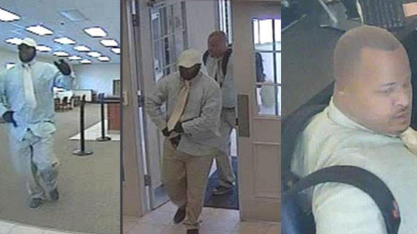 Two men robbed a Berwyn bank Tuesday morning.