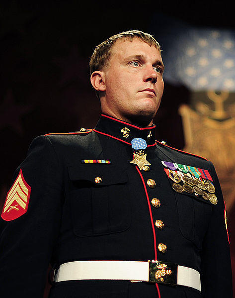 Marine Sgt. Dakota Meyer, one of the youngest Medal of Honor recipients, will speak today, Wednesday, at North Central Michigan College in Petoskey.