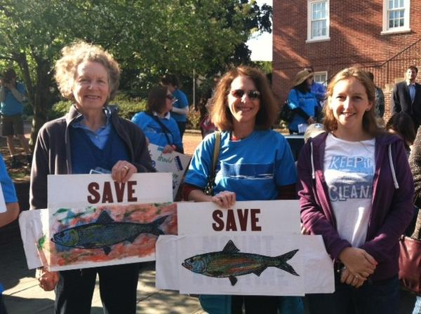 Environmentalists rally for clean water in Annapolis.