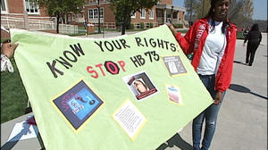 Radford social workers protest bill that drug tests welfare recipients