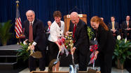 Indiana University President Michael A. McRobbie presided over groundbreaking ceremonies March 28, for a new laboratory building at Indiana University-Purdue University Indianapolis that will provide critically needed space for faculty to engage in path-breaking education and research that contribute extensively to the economic vitality of the state.
