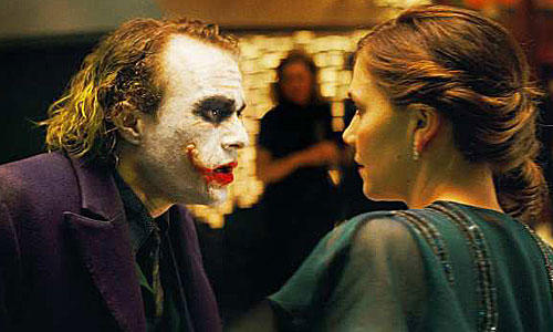<b>THE JOKER:</b> Heath Ledger (with Maggie Gyllenhaal) made an already iconic character his.