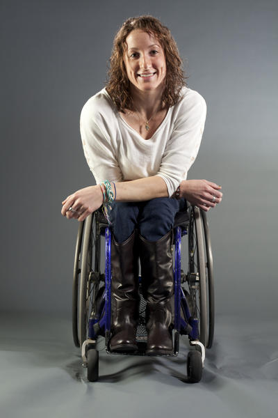 Tatyana McFadden was born in St. Petersburg, Russia and spent the first six years of her life in an orphanage. Due to a birth defect called spina bifida, she does not have the use of her legs and the orphanage did not provide her with a wheelchair. After her adoption by Clarksville resident Debbie McFadden, she developed her athletic skills and has competed in both the Athens and Beijing Paralympic Games. Now a college student, she is preparing for the London Games.