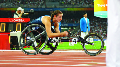 Tatyana McFadden competed for Team USA in the 2008 Paralympic Games in Beijing and is now preparing for the 2012 London Games.