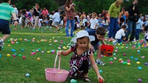 Easter Egg Hunt for visually-impaired children at O.J. Watson Park