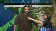 Video: Seahawk tries reporting the weather