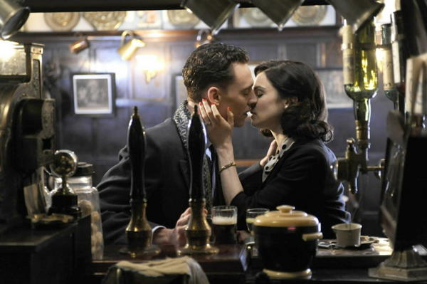 "Freddie Page (Tom Hiddleston) and Hester Collyer (Rachel Weisz) in the film ""The Deep Blue Sea."""