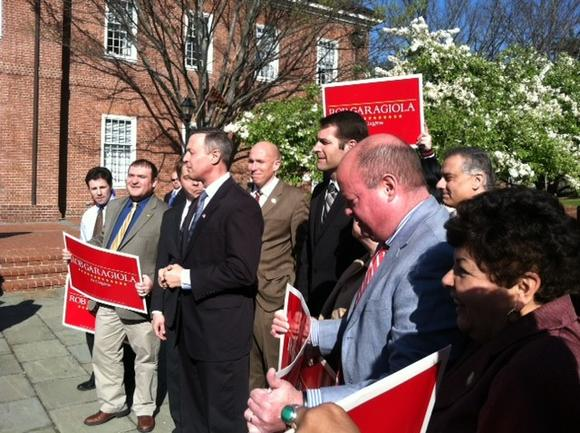 Gov. Martin O'Malley endorses Sen. Rob Garagiola for Congress.