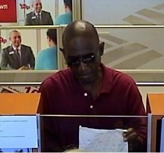 Suspect robbed a Bank of America in Hialeah.