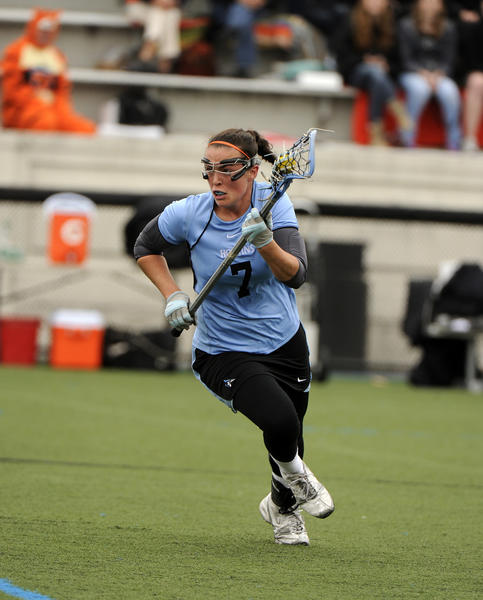 Midfielder Taylor D'Amore leads No. 12 Johns Hopkins (7-2) with 21 goals and 17 assists.