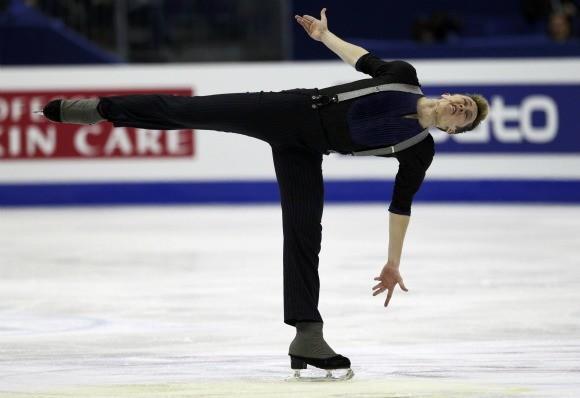 Jeremy Abbott during the men's short program at the World Figure Skating Championships Friday.