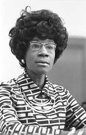 In 1969, Rep. Shirley Chisholm, of New York, was sworn in as the first African-American woman in Congress. She served in the U.S. House of Representatives until 1983. She ran for president in 1972, becoming the first African-American candidate on a major party ticket as well as the first woman to do so.