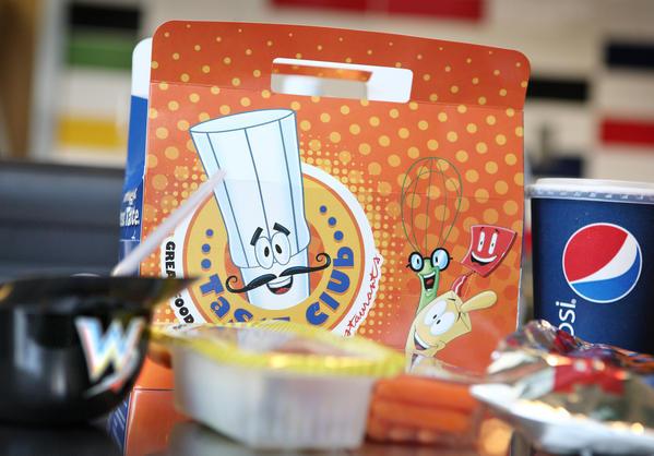 The Kids Snack $3.75 childrens hot dog combo platter.