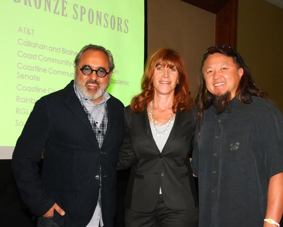 Shaheen Sadeghi, Susan Samueli and Wing Lam at Coastline Community College's annual Visionary Luncheon. (photo courtesy Nina A., Everlast Photos)