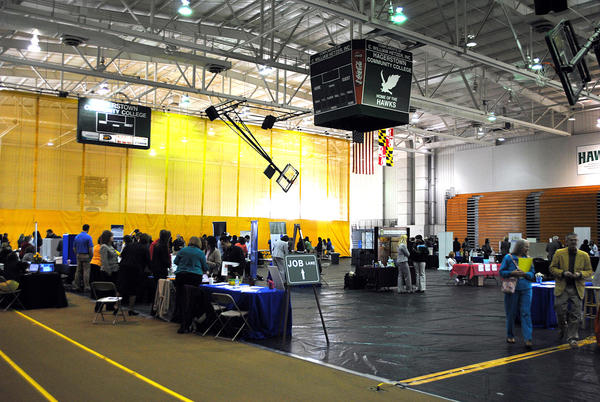 The Herald-Mail Company, Washington County One-Stop Job Center, and Hagerstown Community College (HCC) presented the annual Spring Job and Career Fair in the Athletic, Recreation and Community Center (ARCC) of HCC Friday.