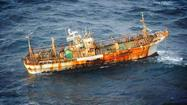 A 150 foot Japanese fishing vessel, believed to be washed out to sea by an earthquake and tsunami last March, has appeared off the coast of British Columbia and is expected to drift north toward Alaska, according to NOAA.