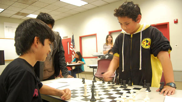 The Heber Chess Club practices Friday, less than a week after winning the Southern California State Championships.
