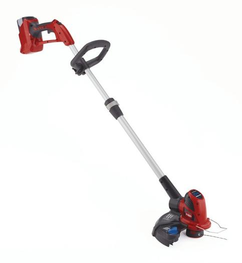 The new Toro lithium battery trimmer uses no gas.
