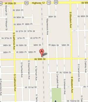 Location of Evergreen Park shooting