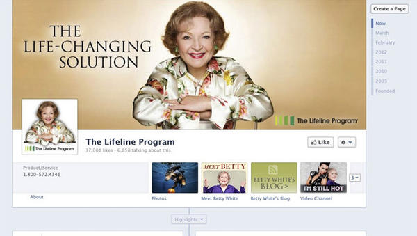 Part of the Facebook page of the Lifeline Program, whose client base is mostly senior citizens. The company was hit with an explosion of angry feedback.