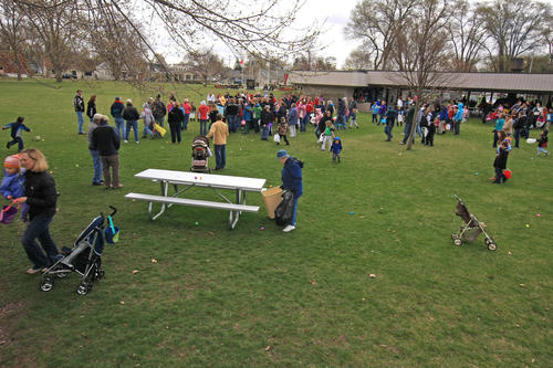 1st Presbyterian Church of Boyne City sponsored an Easter egg hunt for the children of the area recently at the Veterans Memorial Park in Boyne City.