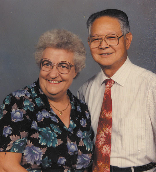 Tuck and Marge Ng pose for this picture taken in 1996.