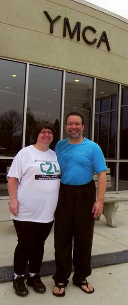 Charlene and Niel Augustine of Smithsburg lost a combined 32 pounds in the Waynesboro (Pa.) YMCA's Choose 2 Lose Weight Loss Challenge.