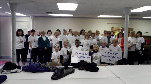 Members of Curves for Women of Williamsport pose for a picture Saturday at Zion Evangelical Lutheran Church in Williamsport.