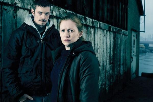 "Joel Kinnaman and Mireille Enos star in AMC's ""The Killing."""