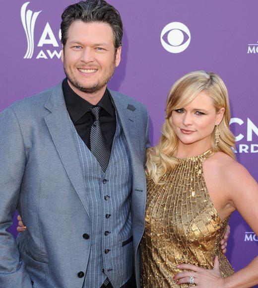 Academy of Country Music Awards 2012: Red carpet pics: Blake Shelton and Miranda Lambert