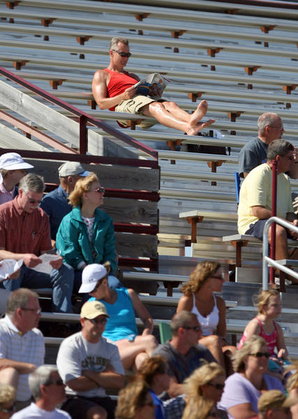 A warmer than normal March ended over the weekend with temperatures in the mid-70's as track fans at the Al Sahli Invitational soaked in the sun on Saturday at Swisher Field. American News Photo by John Davis