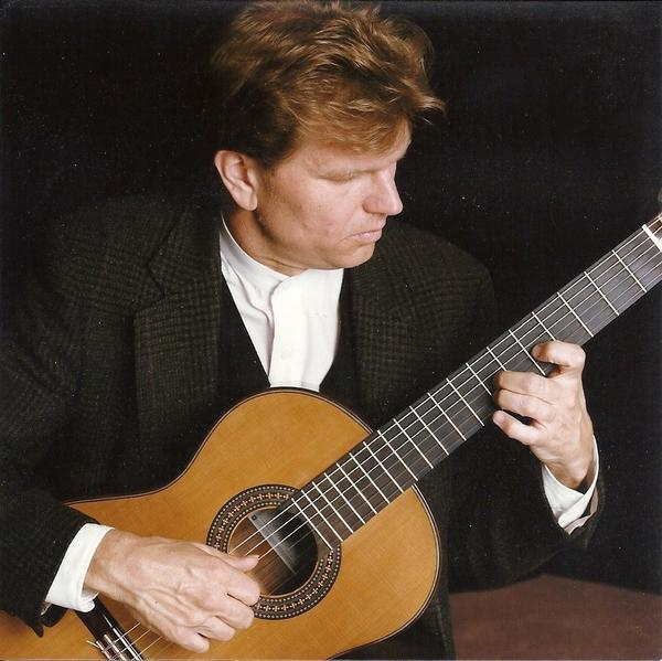 Guitar students of William Feasley, shown, will perform chamber music April 3, at Shepherd University.