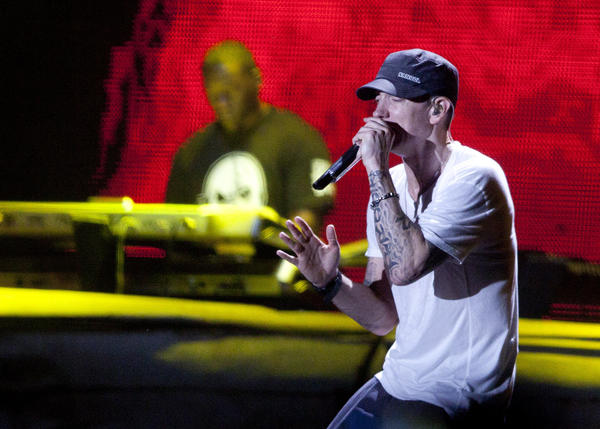 Eminem performs at Lollapalooza Saturday, August 6, 2011 in Chicago, IL.