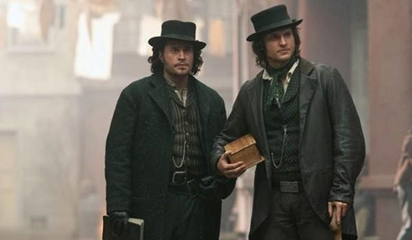 """Det. Francis Maguire (Kevin Ryan, left) and Det. Kevin Corcoran (Tom Weston-Jones) in New York City's Five Points in the drama """"Copper."""""""