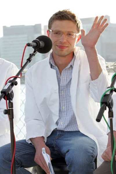 "Science writer Jonah Lehrer is seen at the ""You and Your Irrational Brain"" panel discussion in Long Island City in 2008."