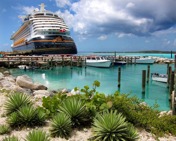 The Fantasy docked at Disney's Castaway Cay in the Bahamas, Tuesday, March 27,  2012.