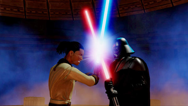 Fans will get the opportunity to go one-on-one with Darth Vader in 'Kinect Star Wars,' which comes out this Wednesday. Since your character is not Luke Skywalker, there are also no messy daddy issues to contend with.