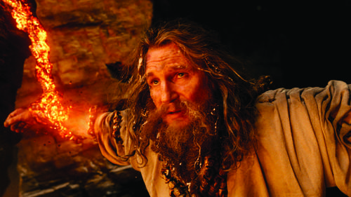 "In this film image released by Warner Bros., Liam Neeson portrays Zeus in a scene from ""Wrath of the Titans."""