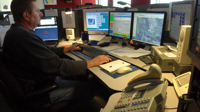 David Johnson, a supervisor at Somerset County Control, has been a dispatcher for 27 years.