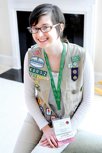 Jennifer Shepheard, 15, of Hagerstown attended the 52nd National Girl Scout Convention last November in Houston, Texas.