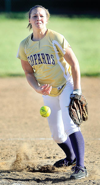 Smithsburg's Cara Ferguson allowed one run on two hits while striking out eight in a five-inning complete game Monday at Boonsboro.