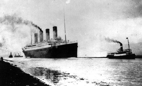 The luxury liner Titanic departs Southampton, England, on April 2, 1912, on her maiden Atlantic Ocean voyage to New York. It struck an iceberg off the coast of Newfoundland and sank in the early hours of April 15. There are more icebergs in the ocean today than there were in 1912, due to climate change.