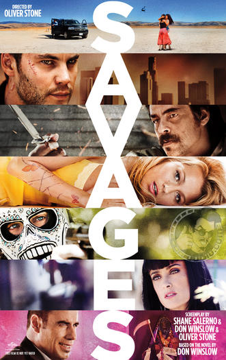 "The ""Savages"" movie poster."