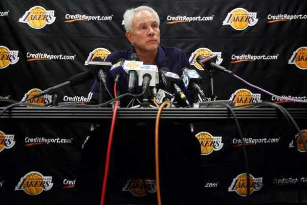 "Lakers General Manager Mitch Kupchak tells The Times: ""Andrew [Bynum] continues to have a mix of good moments and maybe not-so-good moments. But he's very bright, a really intelligent kid."""