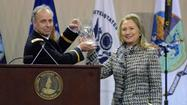 Virginia Military Institute honored Secretary of State Hillary Clinton on Tuesday, with the school's Distinguished Diplomat Award.