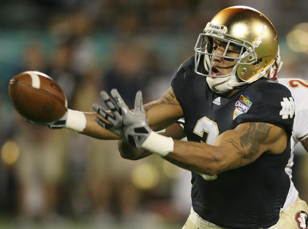 The Bears appear to have taken a personal interest in Notre Dame wide receiver Michael Floyd.