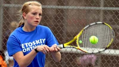 Petoskey junior Gabby Jensen is among several key returners to the court for the Petoskey High School girls' tennis team this season.