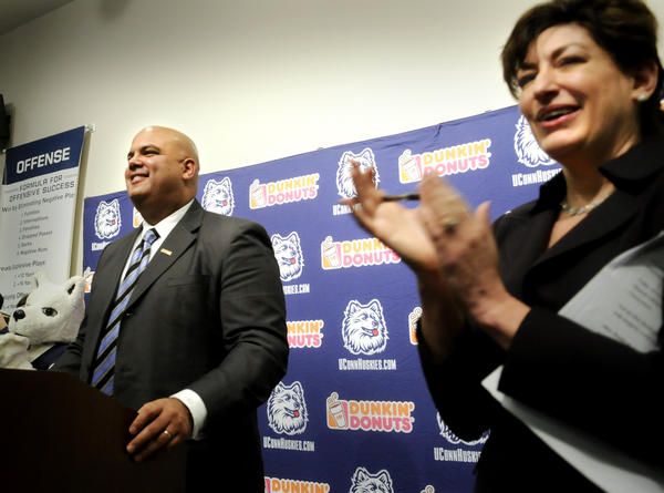 <b>2011:</b> Incoming president could ride wave of enthusiasm for championship. Pledged to have an open, transparent, role.<br>  <b>2012:</b> Has made tough decisions and could face more while trying to fix academic issues with men's basketball team. Replaced AD Jeff Hathaway with Warde Manuel, left